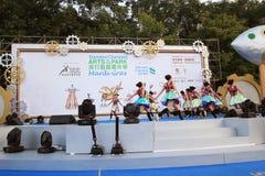 Artes en el evento de Mardi Gras del parque en Hong Kong 2014 Fotografía de archivo