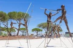 Artes expostas na esplanada Pre-DES-Pecheurs na cidade velha Imagem de Stock Royalty Free