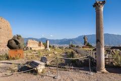 Artes finalas do escultor polonês Mitoraj em Pompeii Fotografia de Stock