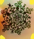 Artes hermosos Pintura de la mano utiliza para la pintura del piso Pintura de paredes foto de archivo