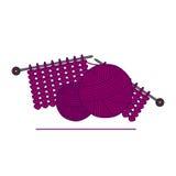 artes knitting handmade Agujas que hacen punto e hilado Imagenes de archivo