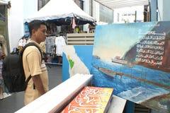 Artes malasios en el mercado central Kuala Lumpur fotografía de archivo