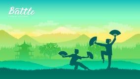 Artes marciais de diferente ilustração stock
