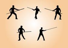 Artes marciais - grupo 3 fotografia de stock