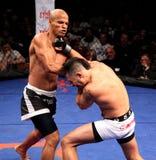 Artes marciais misturadas da costela de Gilvan Santos v. Rob Foto de Stock Royalty Free