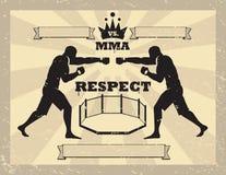 Artes marciais misturadas - luvas de batida Fotografia de Stock Royalty Free