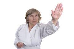 Artes marciais para povos aposentados Foto de Stock Royalty Free
