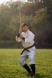 Artes marciales al aire libre Fotografía de archivo libre de regalías