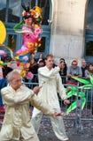 Artes marciales chinos en festival de luna en París. Fotografía de archivo libre de regalías