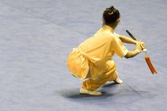 Artes marciales chinos (Wushu) Imagenes de archivo