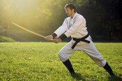 Artes marciales practicantes Foto de archivo libre de regalías