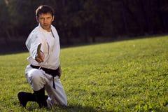 Artes marciales practicantes Foto de archivo
