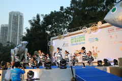 Artes no evento de Mardi Gras do parque em Hong Kong Imagens de Stock