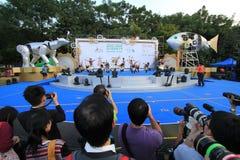 Artes no evento de Mardi Gras do parque em Hong Kong Imagem de Stock