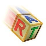 Artes o diseño de Art Wooden Block Means Creating stock de ilustración