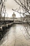 Artes preto e branco do DES de Passerelle em Paris imagens de stock royalty free