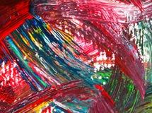 Artes que pintam no acrílico de papel da cor de água do sumário do fundo Fotos de Stock Royalty Free