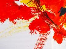 Artes que pintan color de agua abstracto del fondo de acrílico Imagen de archivo