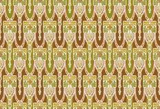 Artes retros e teste padrão do papel de parede do estilo dos ofícios Imagens de Stock Royalty Free