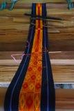 artes Tiras tejidas mano de la materia textil Fotografía de archivo