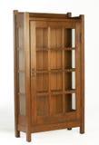 Artes y estante para libros de cristal de Doored de los artes Imágenes de archivo libres de regalías