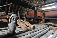 Artesanía étnica de Batak en una casa tradicional de Batak Fotografía de archivo