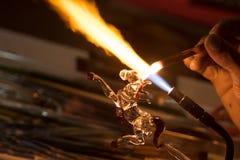 Artesanía de la forma de cristal del caballo que sopla Foto de archivo
