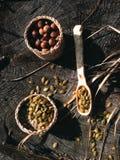 Artesanía en madera de madera de la cuchara Imagenes de archivo
