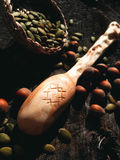 Artesanía en madera de madera de la cuchara Imagen de archivo libre de regalías