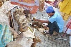 Artesanías de la cáscara del coco Foto de archivo libre de regalías