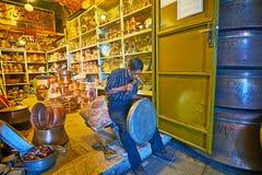Artesanías en Kermán, Irán foto de archivo