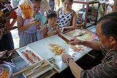 Artesanías populares chinas, pintura del azúcar Imagen de archivo libre de regalías