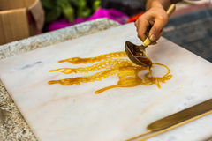 Artesanías populares chinas, pintura del azúcar Imagenes de archivo