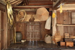 Artesanato de bambu tradicional Fotografia de Stock Royalty Free