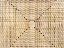 Artesanato de superfície da textura de Mat Floor Bamboo do vime Imagens de Stock