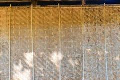 Artesanato do bambu da parede Fotos de Stock Royalty Free