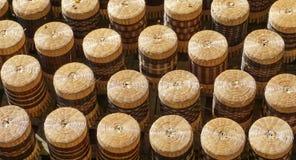 Artesanato feito do bambu para a venda Fotografia de Stock