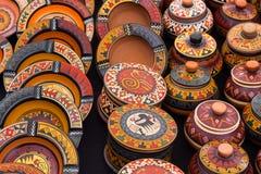 Artesanato peruano da bacia Foto de Stock