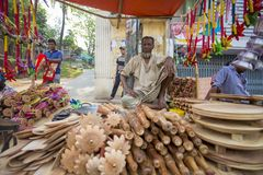 artesanatos bonitos Local-feitos e bens domésticos nativos em Pohela Baishakh justo Fotos de Stock