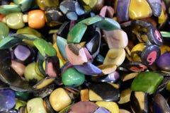 Artesanatos com sementes da palma Fotografia de Stock
