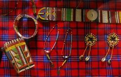 Artesanatos tribais africanos Fotos de Stock