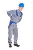 Artesano con dolor de espalda Foto de archivo libre de regalías