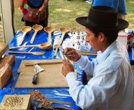Artesano peruano Fotografía de archivo libre de regalías
