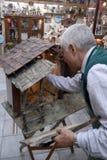Artesanos de San Gregorio Armeno Fotos de archivo libres de regalías