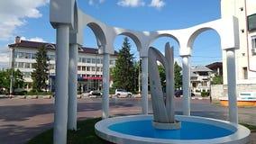 Artesian fountain in the square of Targu Jiu Prefecture 2