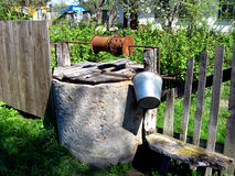 Artesian well in Ukrainian village Stock Image