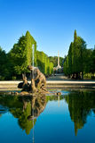 Artesische put in Schonbrunn tuinen, Wenen Stock Foto
