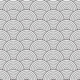 Artex weave. Seventies inspired artex design with flowing black and white circles Royalty Free Stock Photo