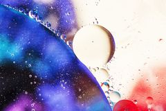 An artful colorful background with bubbles. Abstract background Royalty Free Stock Images