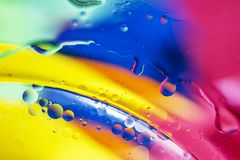 An artful colorful background with bubbles. Abstract background Stock Photography